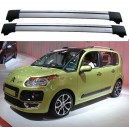 Citroën C3 Picasso 2010+ Roof Rack Cross Bars Spoiler Set