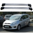 Ford Grand C-Max 2010+ Roof Rack Aero Cross Bars Set Spoiler