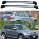 BMW X5 E70 5dr 4x4 2007+ Aero Cross Bars Set Roof Rack Aluminium Spoiler