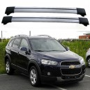 Chevrolet Captiva 2006-2011 Roof Aero Cross Bars Spoilers Set