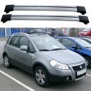 Fiat Sedici / Suzuki SX4 2005+ Roof Aero Cross Bars Set