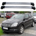 Nissan Qashqai+2 2009+ Roof Aero Cross Bars Wings Set
