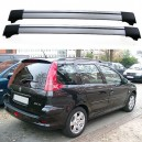 Peugeot 206 SW Estate Roof Aero Cross Bars Spoiler Set