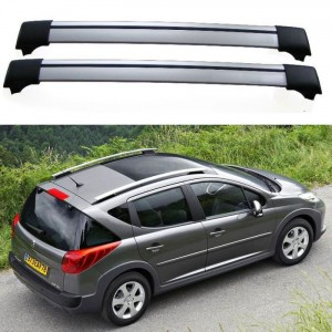 Peugeot 207 SW Estate Roof Aero Cross Bars Spoiler Set