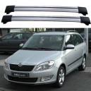 SKODA Fabia 5J From 03.07 Roof Aero Cross Bras Set