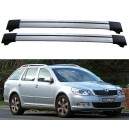 Skoda Octavia Mk2 1Z 2004-2011 Roof Aero Cross Bars Set