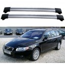 Volvo V70 MK3 III 5dr Estate 2007+ Roof Aero Cross Bars Spoiler Set