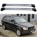 Volvo XC90 5dr MPV 2002-2011 Roof Rack Aero Cross Bars Set