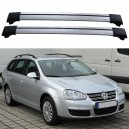 Volkswagen Golf V MK5 Variant 5dr Estate 2007+ Roof Rack Aero Cross Bars Spoiler Set
