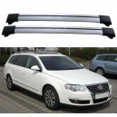 Volkswagen Passat B6 B7 5dr Estate 2005+ Roof Rack Aero Cross Bars