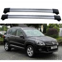 Volkswagen Tiguan 5dr 4x4 2007+ Roof Rack Aero Cross Bars Spoiler Set