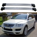 Volkswagen Touareg R50 2007-2010 Roof Rack Aero Cross Bars Spoiler Set