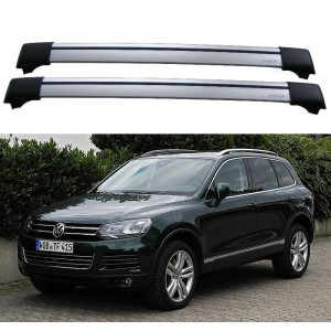 Volkswagen Touareg 7P5 2010+ Roof Rack Aero Cross Bars Spoiler Set