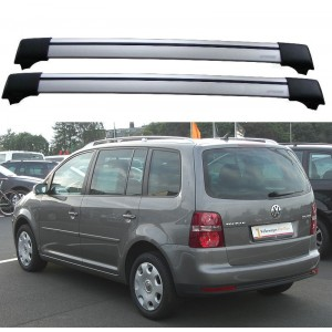 Volkswagen Touran 5dr MPV 2003-2010 Roof Rack Aero Cross Bars Set