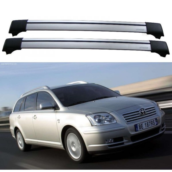 Toyota Avensis 5dr Estate 2003 Roof Rack Aero Cross Bars