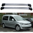 Volkswagen Caddy 2010+ Roof Rack Aero Cross Bars Spoiler Set