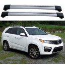 Kia Sorento R 2010+ Roof Rack Aero Cross Bars Spoilers Set
